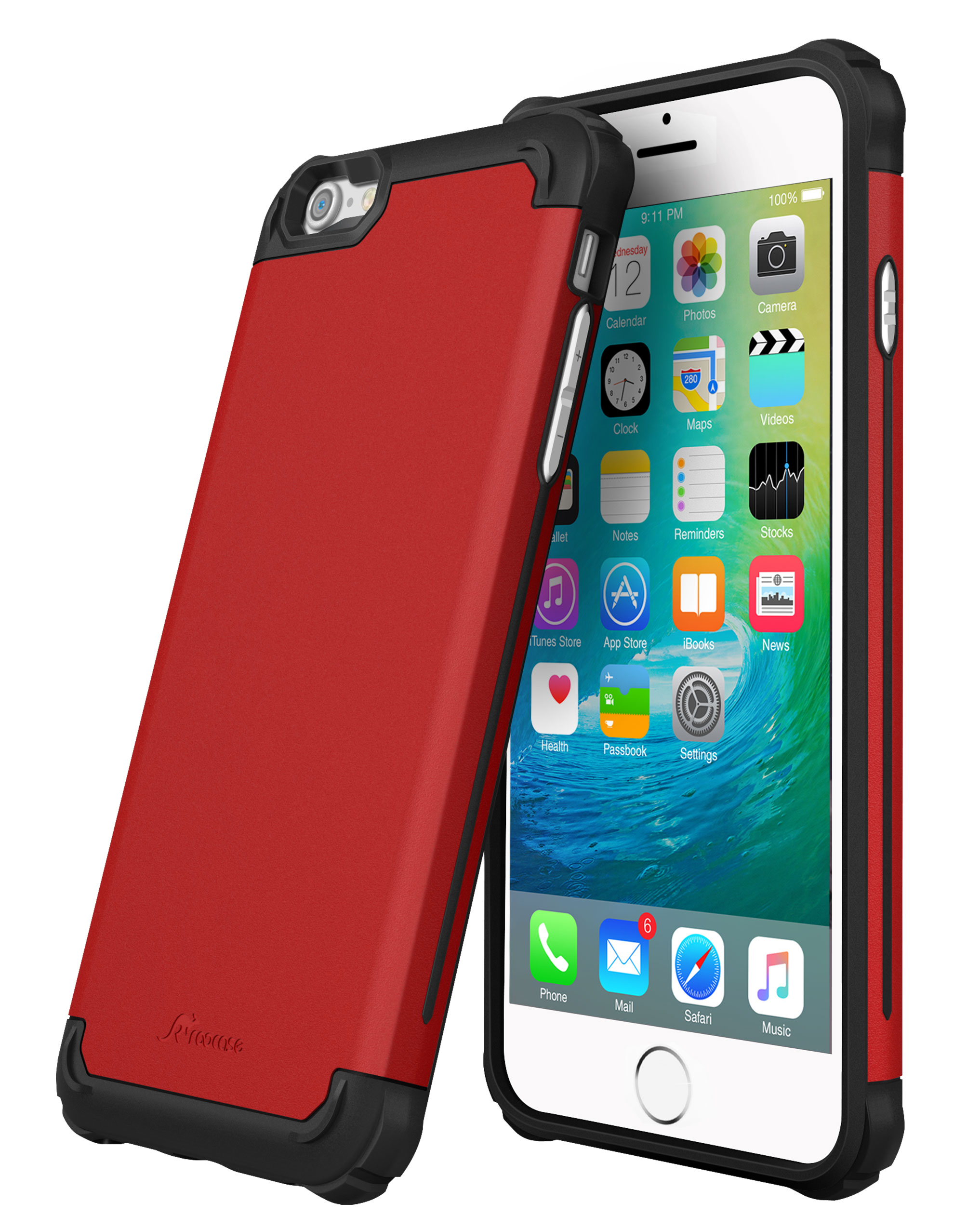 promo code 6847a 20975 iPhone 6s Plus Case, rooCASE Ultra Slim MIL-SPEC Exec Tough Pro Rugged Case  Cover for Apple iPhone 6 Plus / 6s Plus