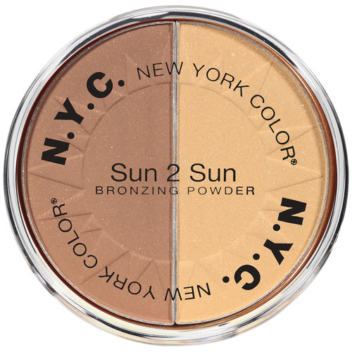 NYC New York Color Sun, 2 Sun Bronzing Powder, 717A Bronze Gold, 0.22 oz