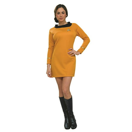 Star Trek Womens Deluxe Command Uniform Halloween Costume - Star Trek Costumes For Men