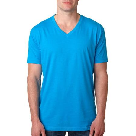 5d028b94972a Next Level Apparel - Next Level 6240 Men's CVC V-Neck T-Shirt - Turquoise -  2X-Large - Walmart.com