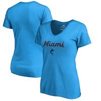 f39de2d0c1d Product Image Miami Marlins Fanatics Branded Women s Team Lockup T-Shirt -  Blue