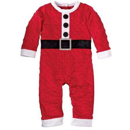 Mud Pie For Halloween (Mud Pie Baby-Boys Newborn Santa One Piece, Red, 0-6)