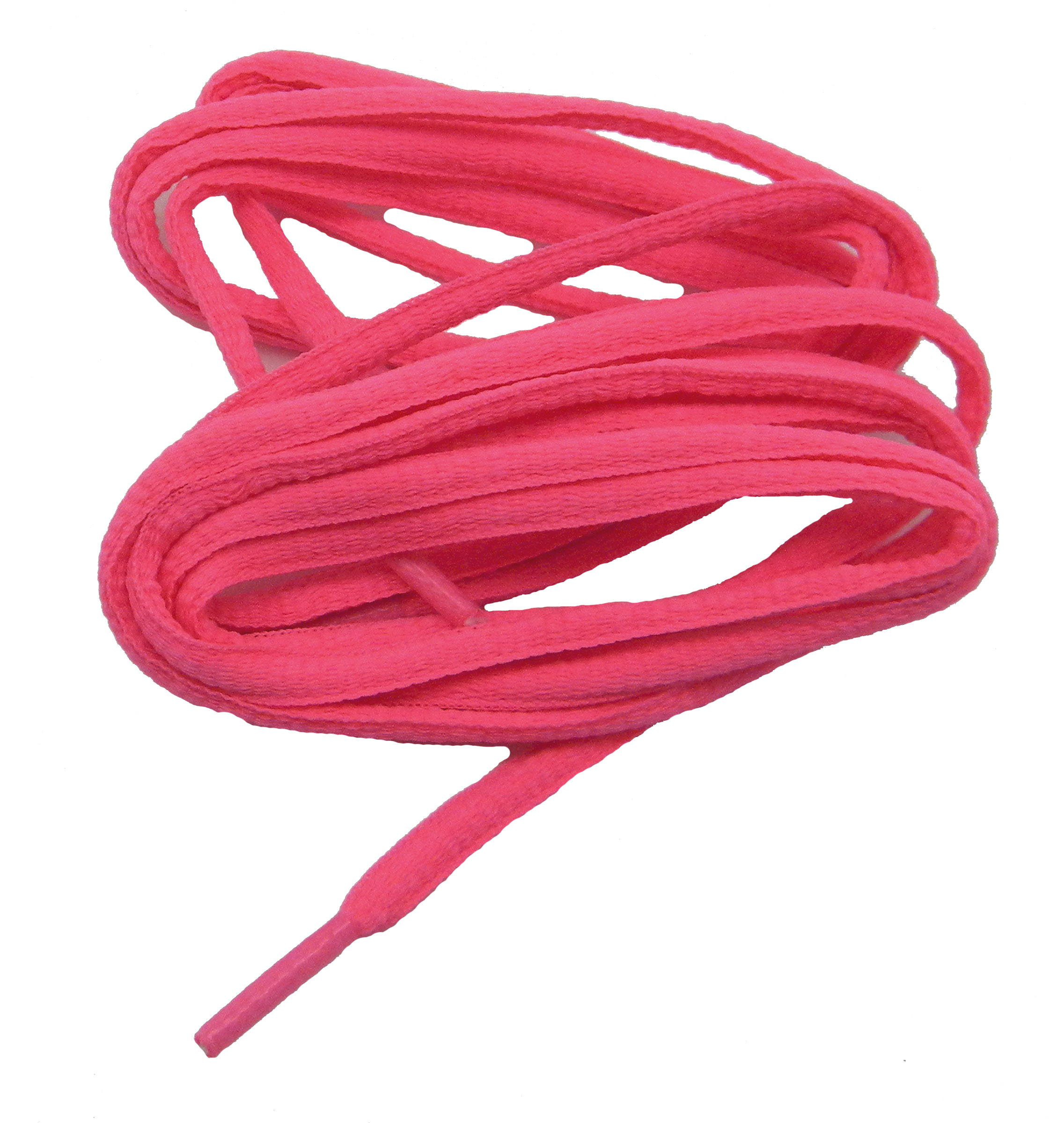 48 Inch 122 cm HOT Neon Pink BCA Pink professional proATHLETIC™ Oval sneaker shoelaces - (2 Pair Pack)