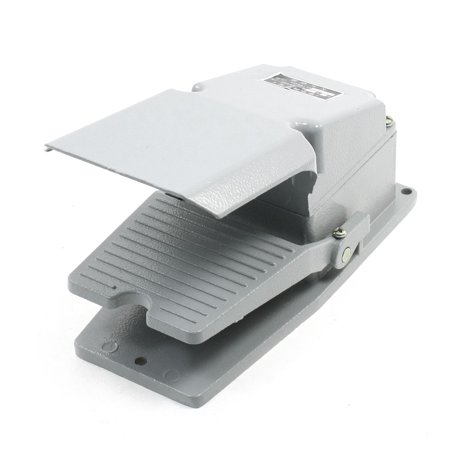 Nonslip Momentary Action Foot Pedal Switch Gray 380V AC 5A 1NO 1NC - image 1 of 1