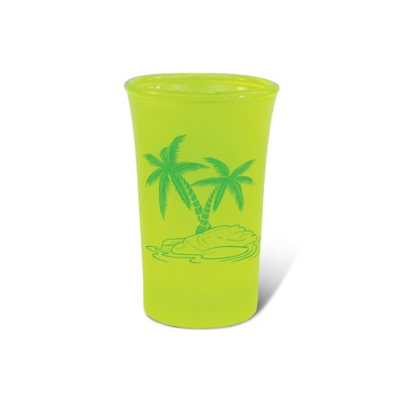 Yellow Neon Tall Shot Glass Palm Tree