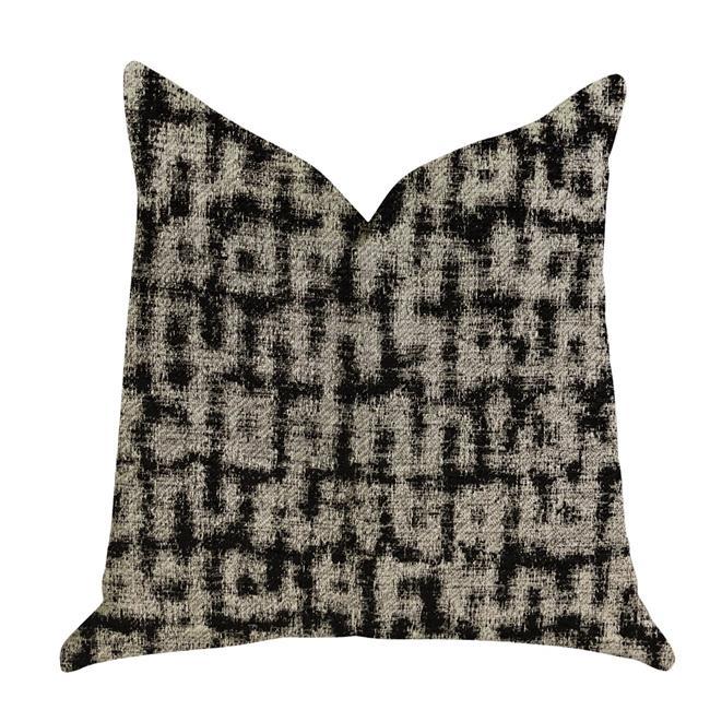 Plutus PBRA1375-2222-DP Modish Millie Luxury Throw Pillow in Black & Beige Tones, 22 x 22 in. - image 1 de 1