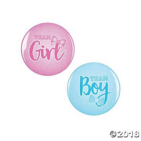 Gender Reveal Buttons (Gender Reveal Team Boy & Team Girl)
