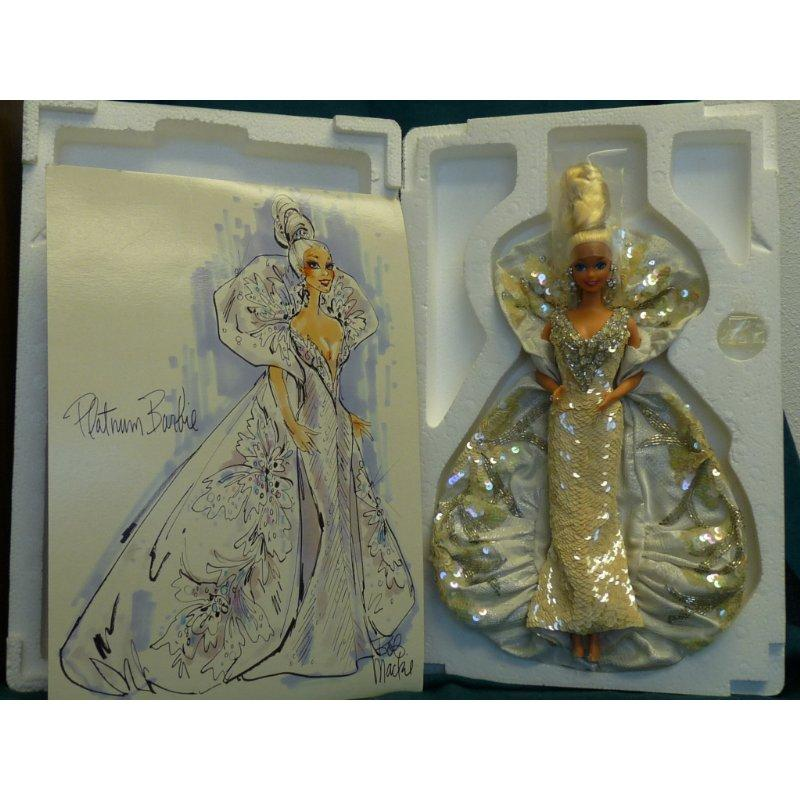Platinum Barbie Bob Mackie 2703 Timeless Treasures Mattel...