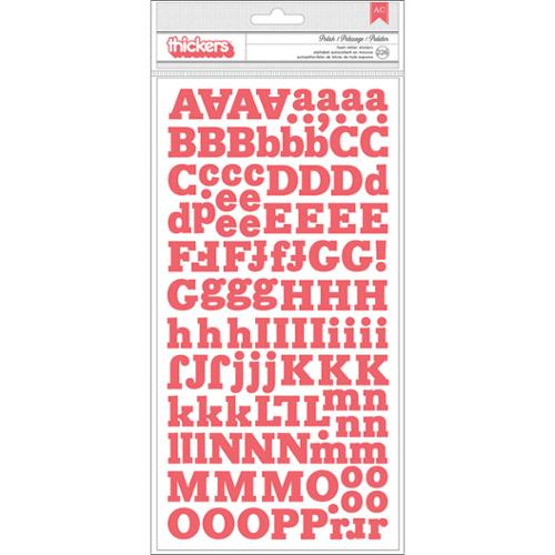 """Styleboard Thickers Alpha Stickers 5.5""""X11"""" 2/Sheets-Polish/Coral Foam"""