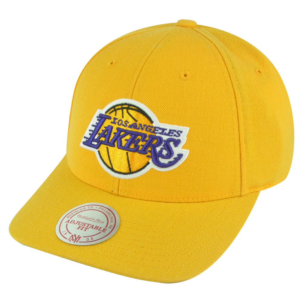 NBA Mitchell Ness Los Angeles Lakers NJ07 Low Pro Coaches Snapback Hat...
