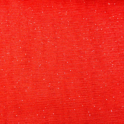 Party Time AP Polymesh Glitter Red Fabric