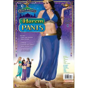 DESERT PRIN HARAM PANTS - BLU (Can Can Dancer Costumes)