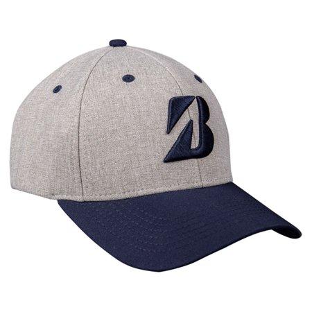 NEW Bridgestone Heather Combo Collection Grey Navy Adjustable Golf Hat Cap  - Walmart.com 9e40c94e046