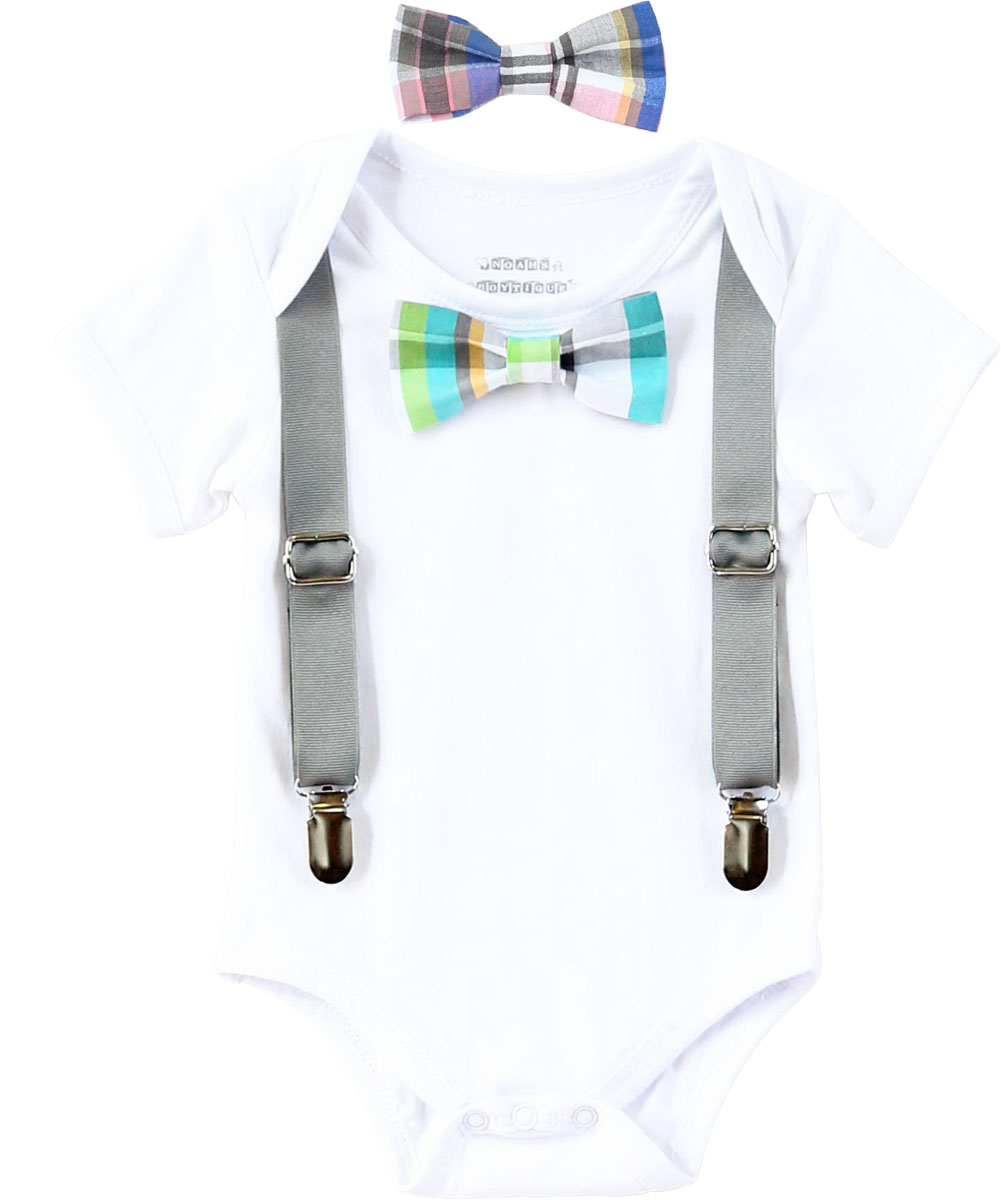 78dba0d30cd3 Noah s Boytique Baby Boy Clothes With Interchangeable Bow Ties and ...