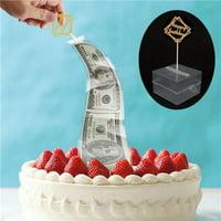 Gobestart Cake ATM Happy Birthday Cake Topper Money Box Funny Cake ATM Happy Birthday