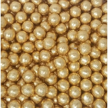 Gold Foiled Milk Chocolate Candy Balls, Wedding Day Candy, Bulk 4 Pounds