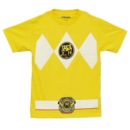Power Rangers Adult Yellow Ranger Costume - Power Rangers T Shirt Adults
