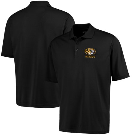 Missouri Tigers Antigua Logo Grande Pique Polo - Black
