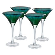 Artland Inc. Peacock Martini Glasses - Set of 4