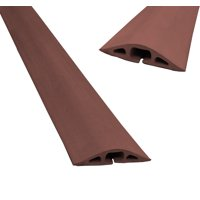 """D-2 Standard Profile Rubber Duct Floor Wire Cable Cord Cover Protector- From 30"""" to 10 Feet- Black, Brown, Gray"""