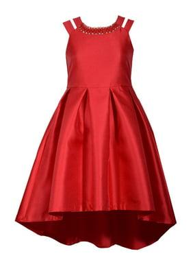 7e12d0c3c8b2e Product Image Bonnie Jean Big Girls 7-16 Split shoulder Red Holiday Party  Dress