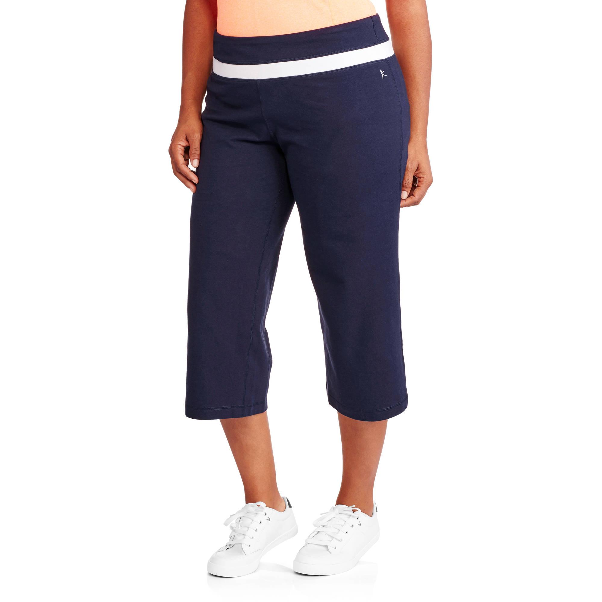 danskin now women's plus-size dri-more capri pants - walmart