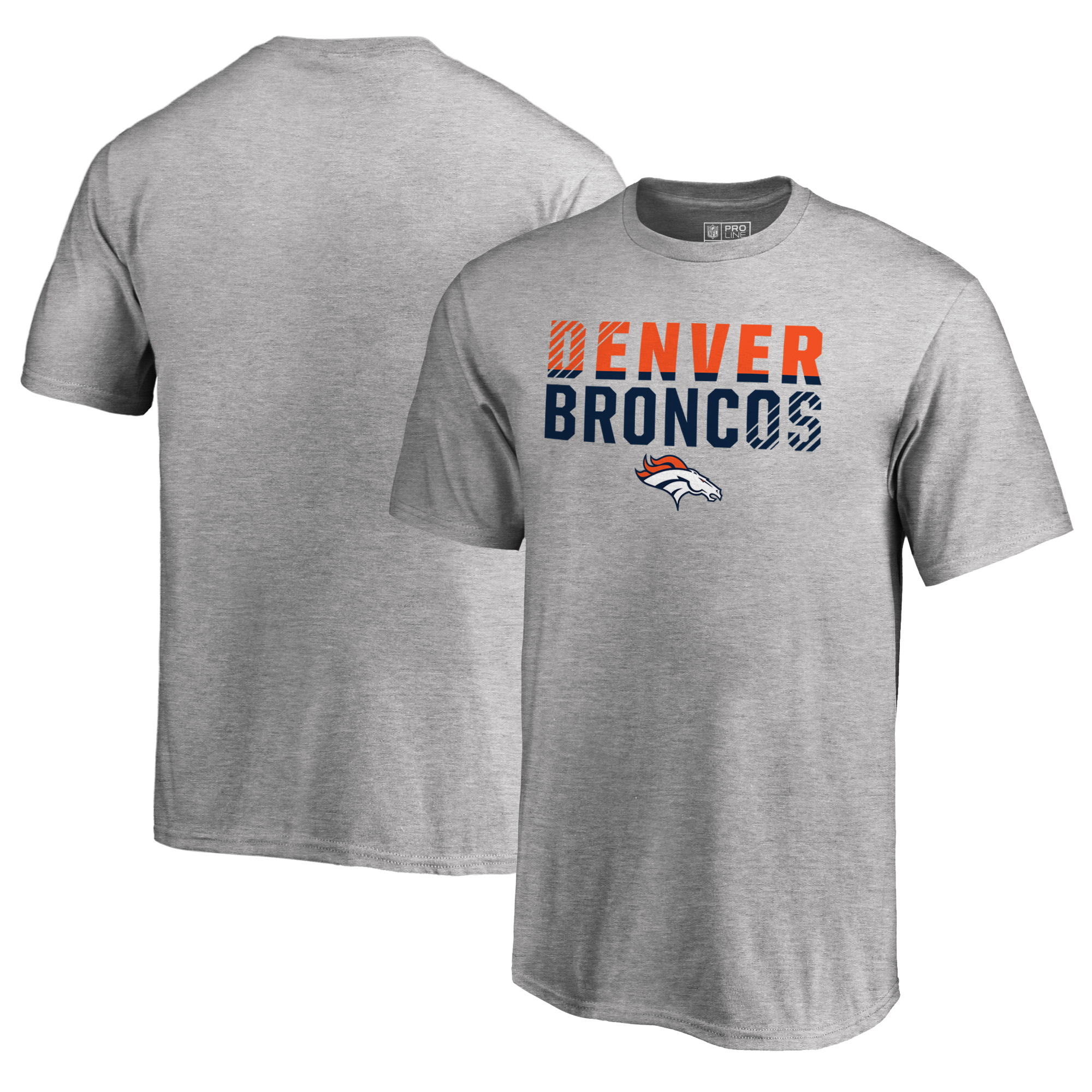 Denver Broncos NFL Pro Line by Fanatics Branded Youth Iconic Collection Fade Out T-Shirt - Ash