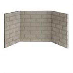 Refractory Brick Liner Kit for Fireplace and Firebox - 36""