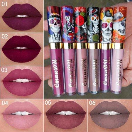 Matte Liquid Lipstick Waterproof Long Lasting Sexy Glitter Style Lip Gloss Makeup Beauty Red Lip Tint