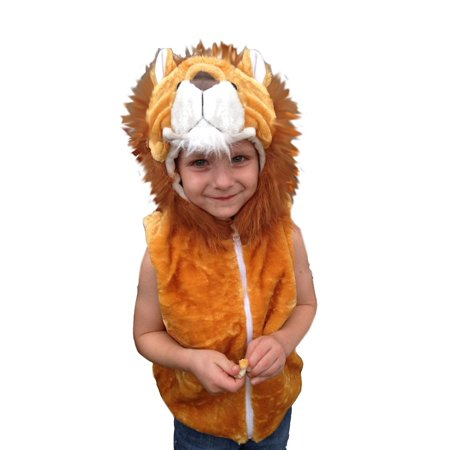 Anime Dress Up Halloween (Fashion Vest with Animal Hoodie for Kids - Halloween Dress Up Costume - Pretend Play (Small,)