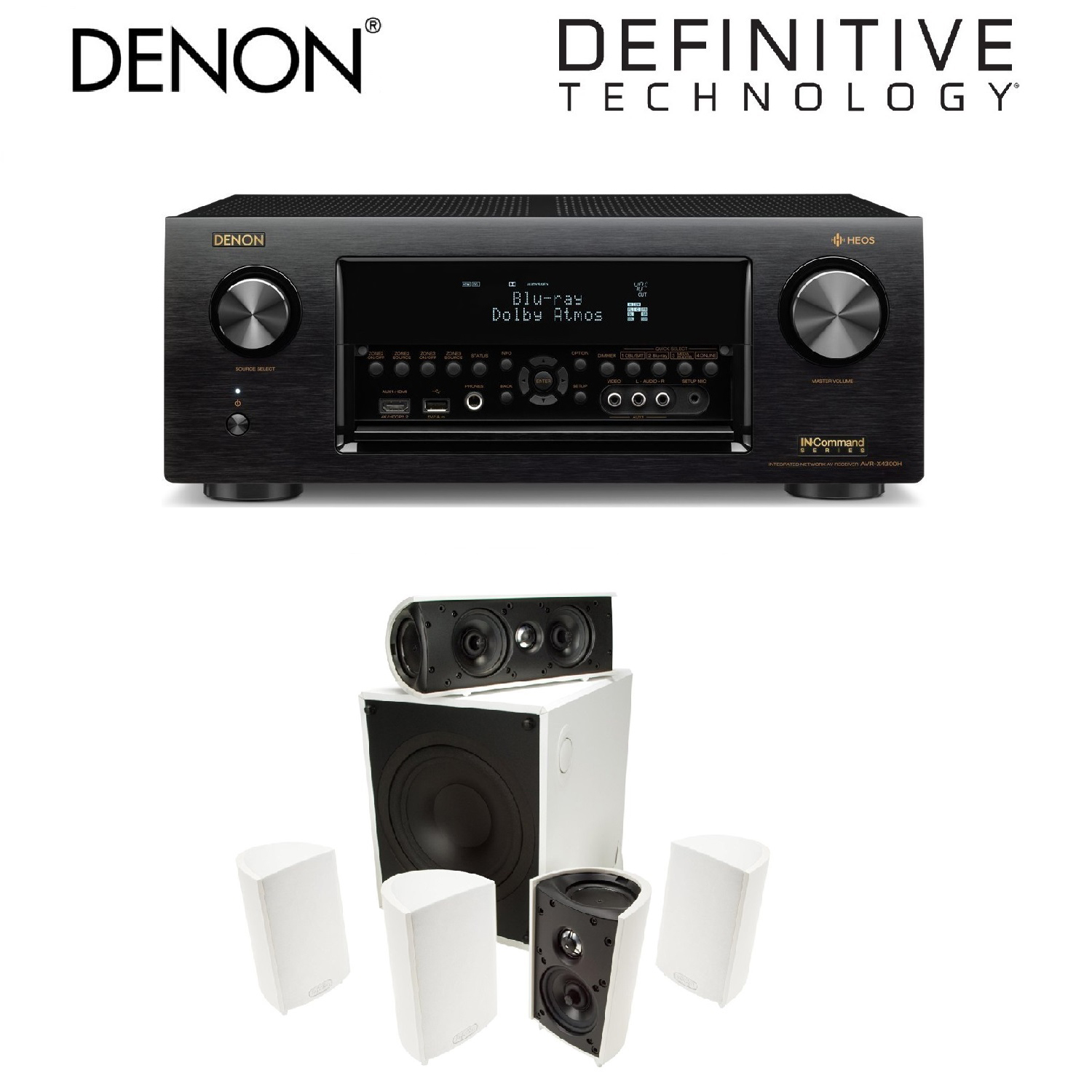 Denon Receiver Audio & Video Component Receiver,Black (AV...