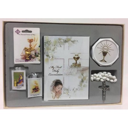 Girls My First Holy Communion Gift Set - Rosary Beads Prayer (First Holy Communion Set)