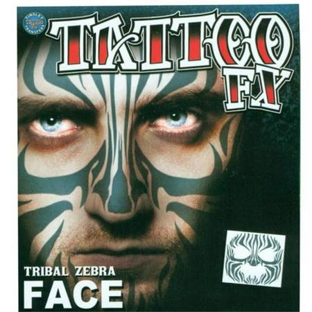 Morris Costumes DFFC502 Face Tattoo Tribal Zebra