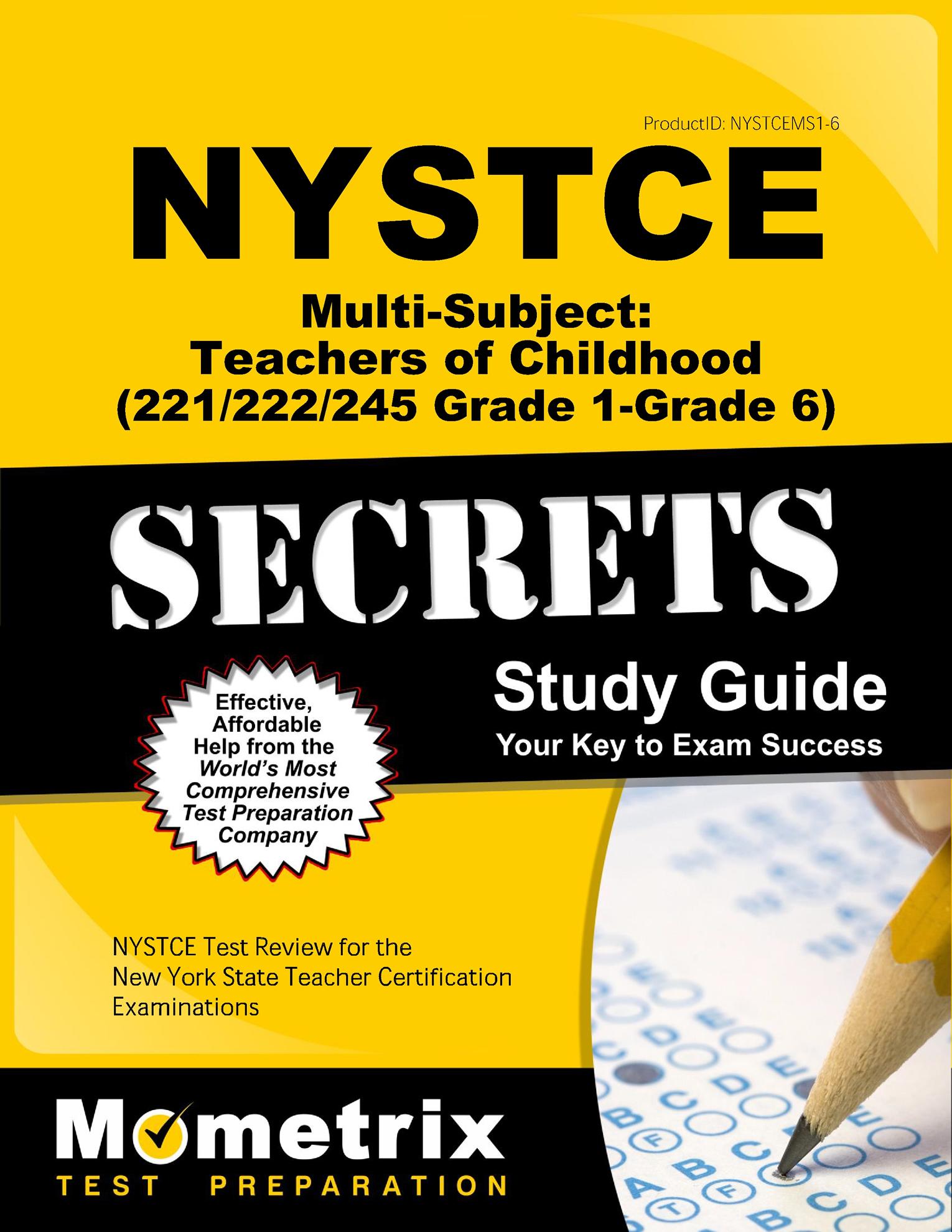Nystce Multi Subject Teachers Of Childhood 221222245 Grade 1