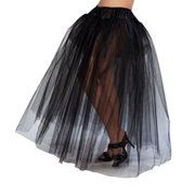 roma costume full length petticoat costume, black, one size