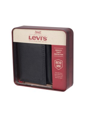 Levi's RFID Trifold Wallet with Interior Zipper
