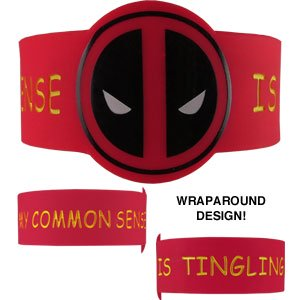 Wristband - Deadpool Common Sense New Toys Licensed rwb-mvl-0005](Deadpool Merchandise)