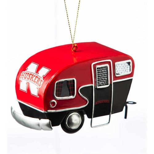Nebraska Cornhuskers Official NCAA 2 inch  x 2 inch  Camper Trailer Christmas Ornament by Evergreen
