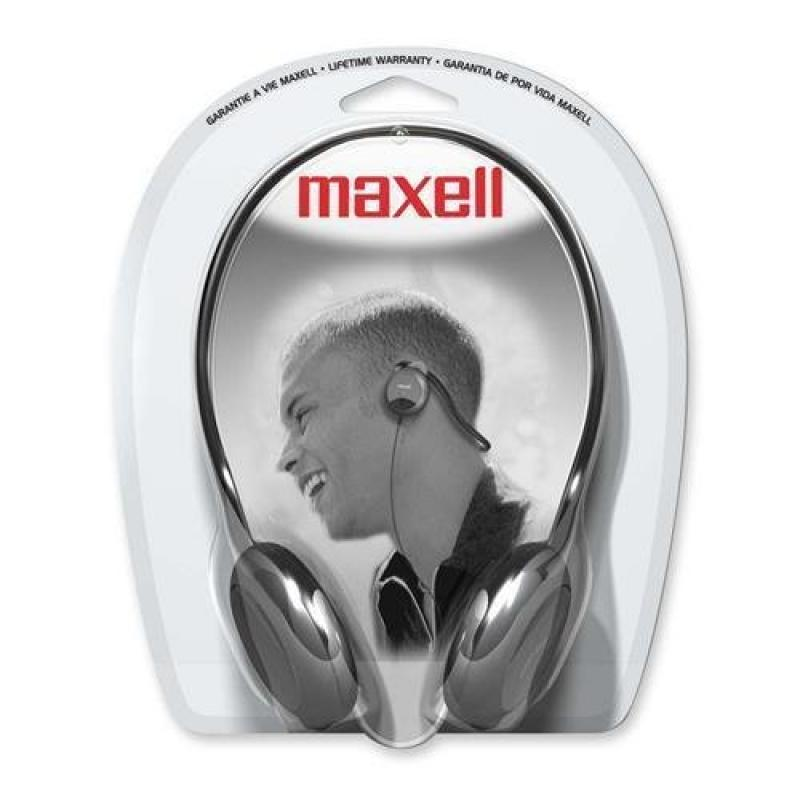 Maxell 190316 NB-201 Stereo Neckbands Headphone Stereo Black Mini-phone Wired 32 Ohm 16 Hz 24 kHz Nickel Plated... by Maxell