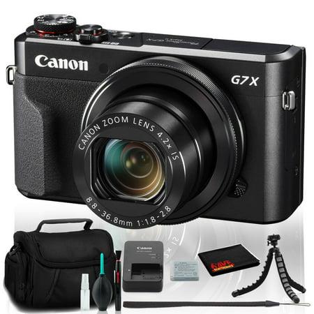 Canon PowerShot G7 X Mark II Digital Camera (Intl Model) With Case and Tripod