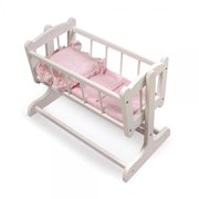 Badger Basket Heirloom Style Doll Cradle with Blanket   Pillow (fits American Girl dolls)