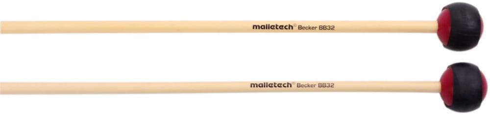 Malletech BB32 Bob Becker 2-Tone Maroon Xylophone Mallets by Malletech