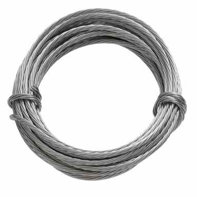 WIRE HANGING 9FT SS 75LB CAP -