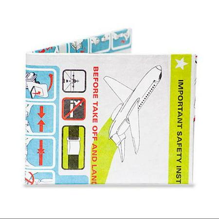 Dynomighty In Flight Pilot Aircraft Travel Instructions Mighty Billfold Wallet