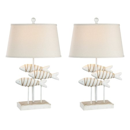 Madison Avenue Furniture International Seahaven Fish Coastal Table Lamp - Antique White