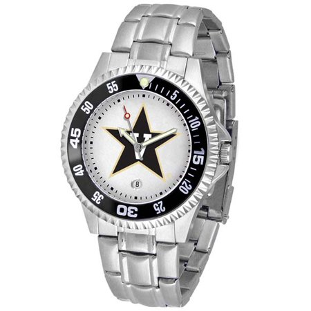 Utah Utes Competitor Steel Watch - Vanderbilt Competitor Men's Steel Band Watch