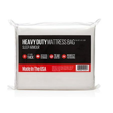 SLEEP ARMOUR : Heavy Duty 4 mil Thick Mattress Bag for ...