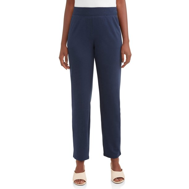 Ladies Pant : Time and Tru Women's Knit Pull on Pant