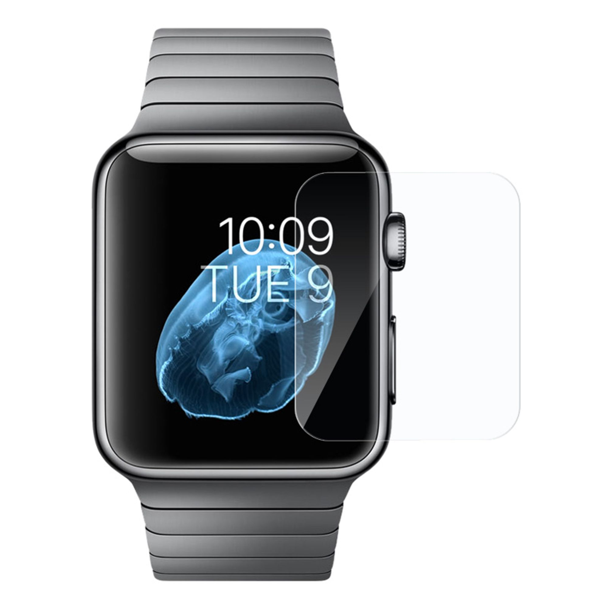 Apple Watch Series 2 42mm Glass Screen Protector, by Insten Clear Tempered Glass LCD Screen Protector Shield Guard Film For Apple Watch Edition Series 2 42mm Watch Series 1 42mm Watch Series 2 42mm