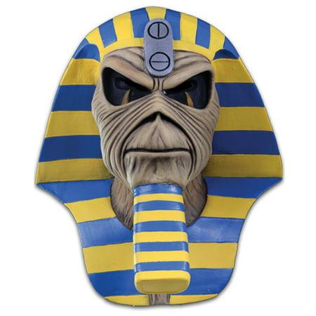 Iron Maiden Powerslave Cover Full Head Mask, Beige Blue Yellow, One-Size - Eddie Mask Iron Maiden